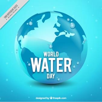 Acqua giorno del mondo di fondo