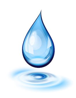 水滴と波紋のアイコン