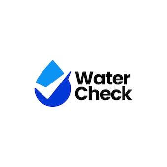 Water drop check logo template