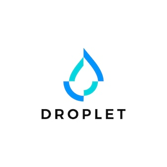 Water drop droplet logo vector icon illustration