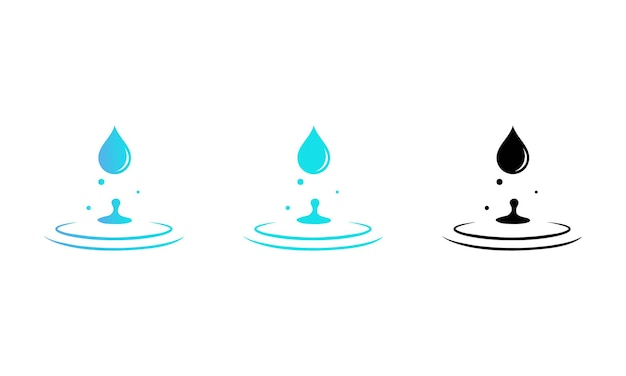 Water drop icon set. vector eps 10. isolated on white background.