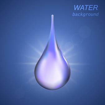 Капля воды иллюстрация
