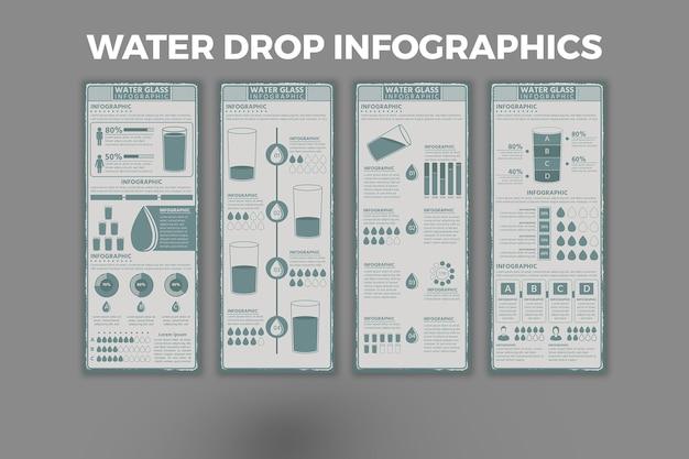 水滴インフォグラフィックデザインテンプレート