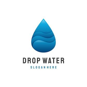 Water drop logo design vector template. waterdrop liquid oil logotype concept. natural mineral aqua icon