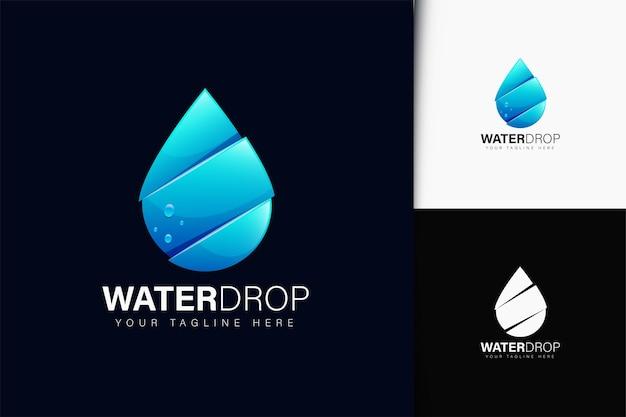 グラデーションの水滴ロゴデザイン