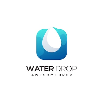 Water drop logo illustration colorful abstract