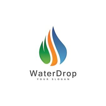 Water drop logo images set