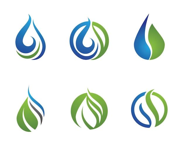 Капля воды логотип шаблон векторные иллюстрации дизайн