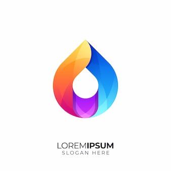 水滴のロゴのテンプレート
