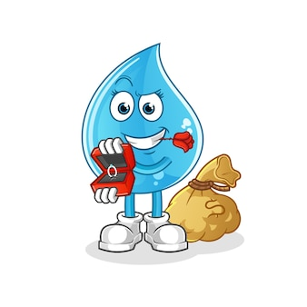 Капля воды предлагает и удерживает кольцо персонажа