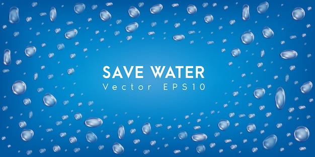 Water drop. save water.