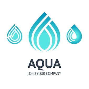 Water drop symbol, logo template icon for your design.