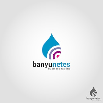 Шаблон логотипа water drop