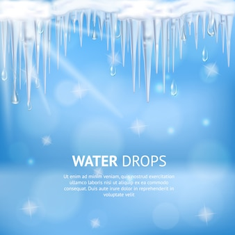 Water drops abstract poster