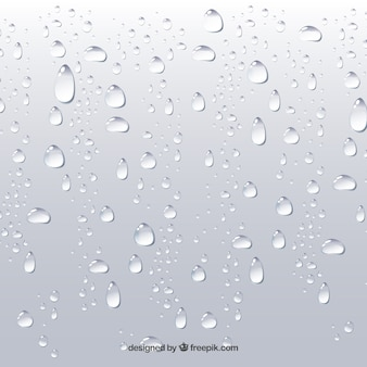 Water drops background in realistic style