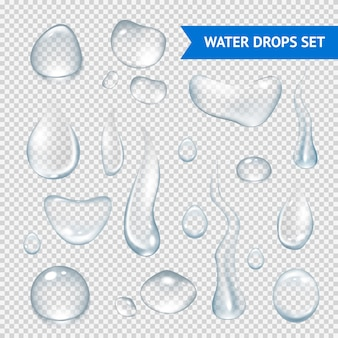 Water drops realistic