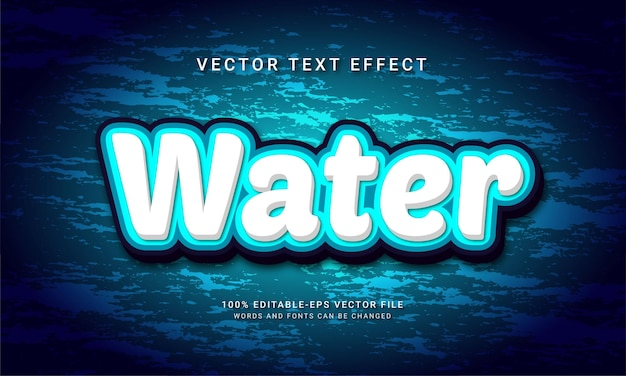 Water editable text effect with natural fresh theme