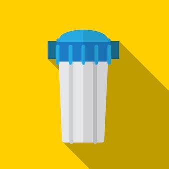 물 필터 평면 아이콘 ilustration 고립 된 벡터 기호