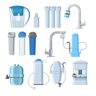 Water filters and mineral filtration systems set