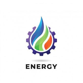 물, 불, 지구. 자연 로고 또는 로고