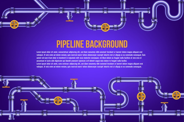 Water and gas pipes in a blue background.