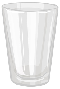 Un bicchiere d'acqua isolato su sfondo bianco