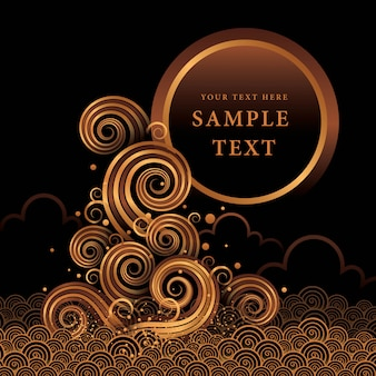 Water gold vector, abstract golden wave design element,