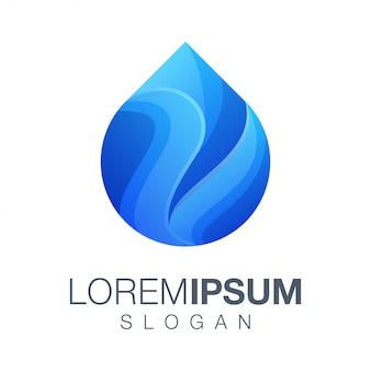Water gradient color logo
