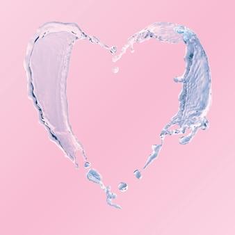 물 심장 요소, 튀는 벡터 클립 아트