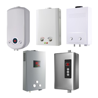Water heater house system collection set
