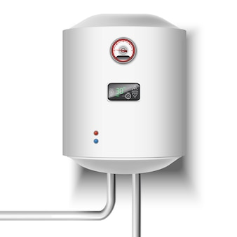 Water heater on white