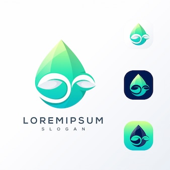 Водяной лист логотип