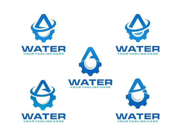 水の文字のロゴ