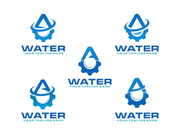 Water letter a logo