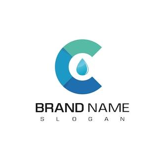 Water logo design template
