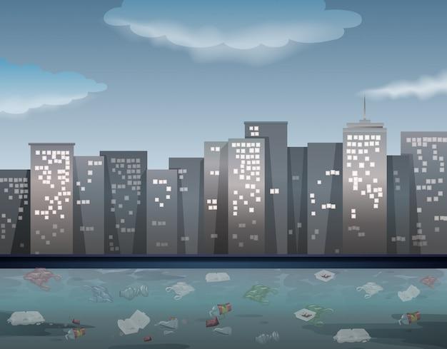 Загрязнение воды в городском городе