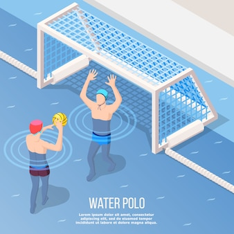 Water polo isometric style