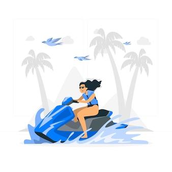 Иллюстрация концепции водного скутера