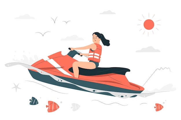 Water scooterconcept illustration