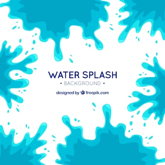 Water splash background in flat style