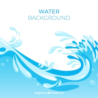Water splash background in flat style