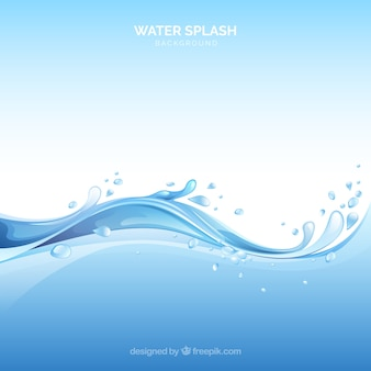 Water splash background in realistic style