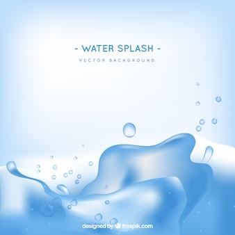 Acqua splash sfondo in stile realistico
