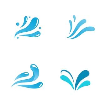 水しぶきアイコンベクトルイラストデザインテンプレート