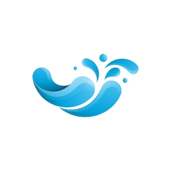 물 스플래시 아이콘 벡터 일러스트 디자인 서식 파일