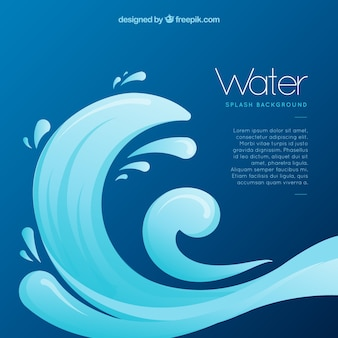 Water splashes background in flat style
