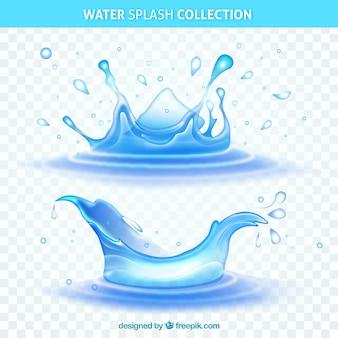 L'acqua spruzza la raccolta senza fondo