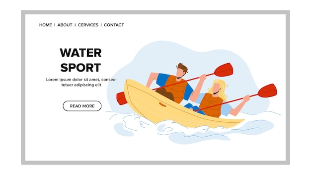 Water sport extremal kayaking competition