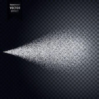 Water spray mist transparent effect