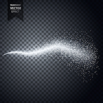 Water spray particles